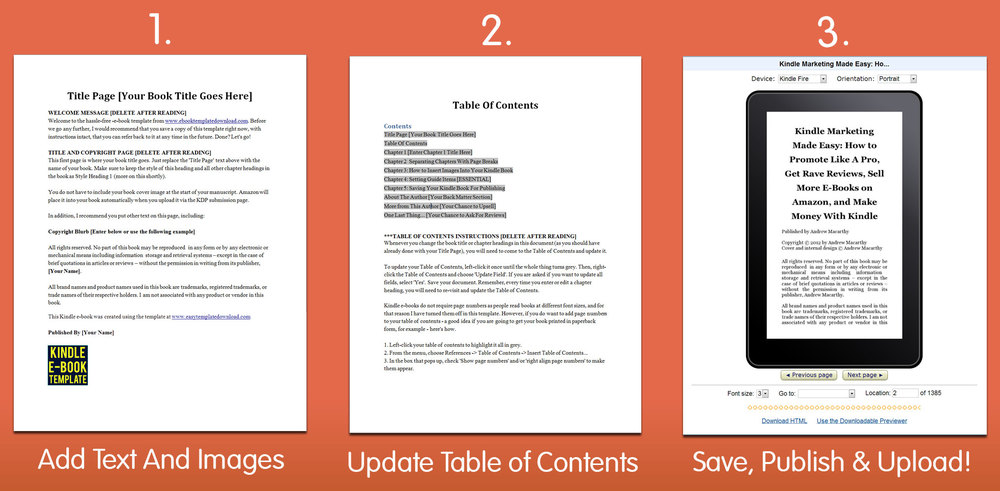 book templates for microsoft word