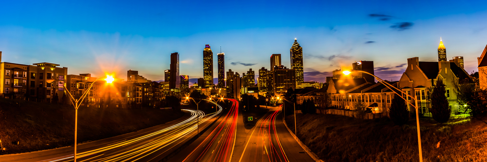 Atlanta Skyline from the Jackson Street Bridge at Sunset