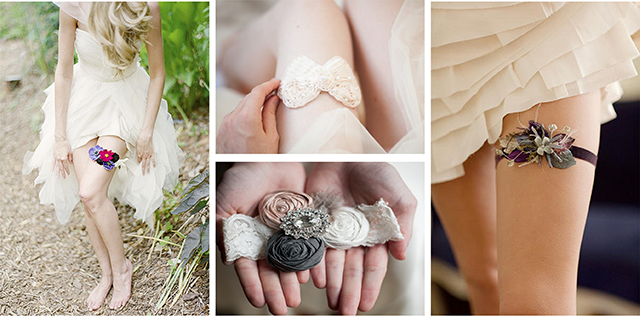 Destination wedding garters