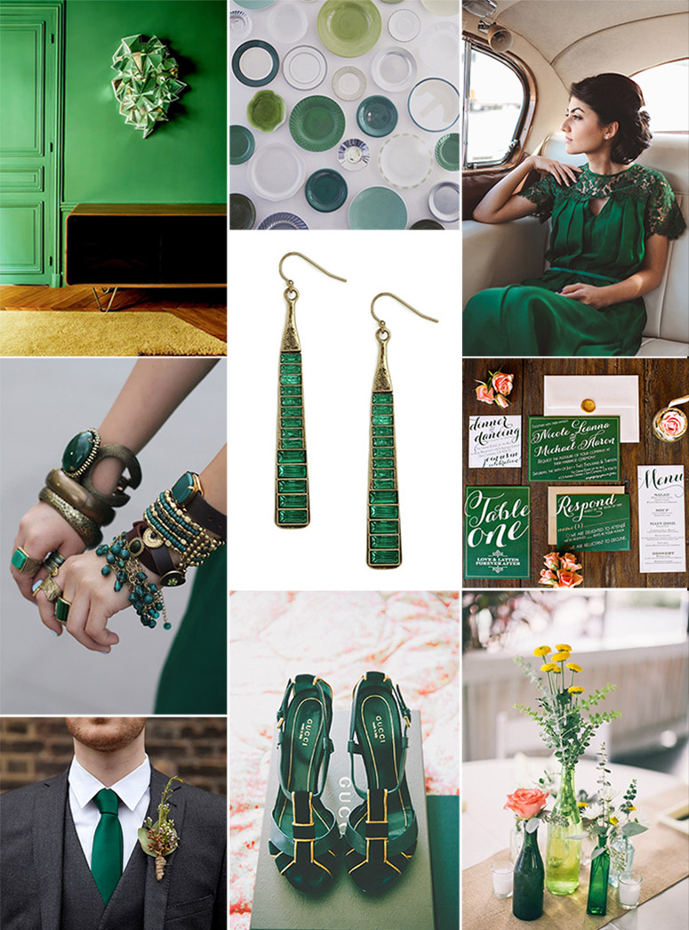Color Palette Emerald Green Costa Rica Wedding Travel Inspiration