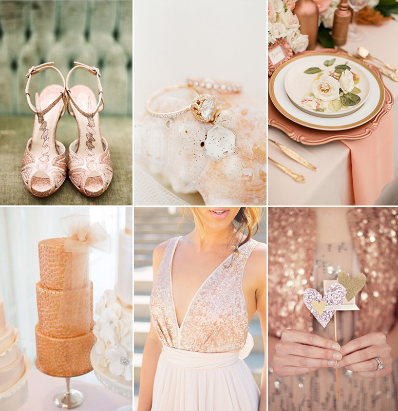 Color Palette Rose Gold Costa Rica Wedding Amp Travel