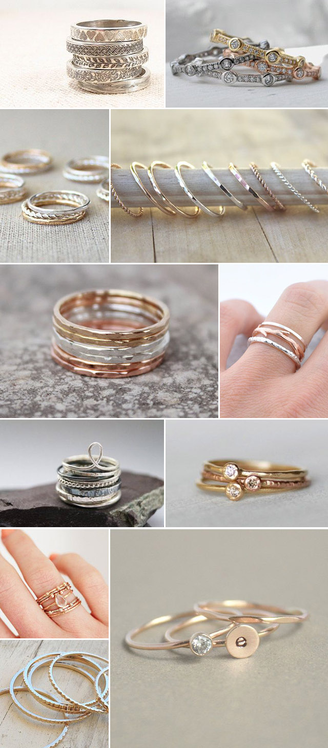 It is a photo of Etsy Finds :: Stackable Rings — Costa Rica Wedding & Travel