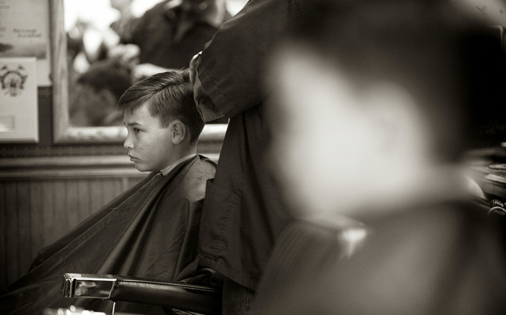 "Still getting a ""boy's"" haircut . . ."