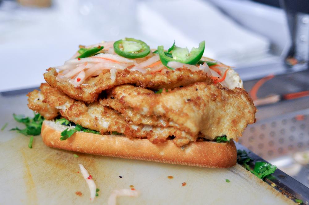 Fried Chicken Banh Mi (#5)