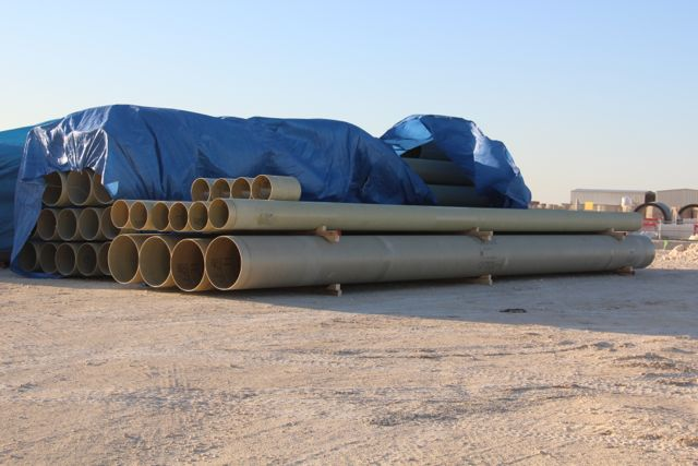 Material on site - Lusail - Foul Sewer