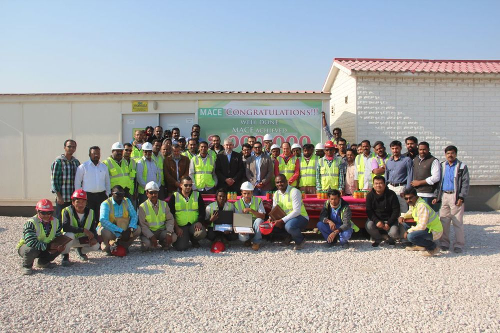 MACE Qatar Lusail Team group picture