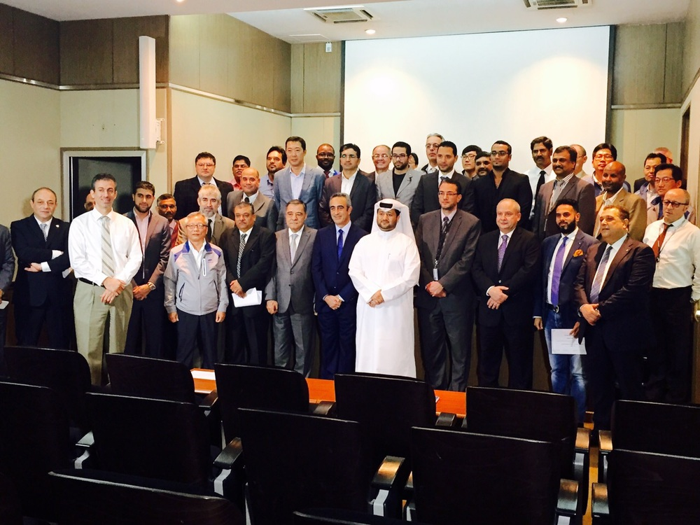 Mr.   Deya Hamad  , Mr.   Farouk Abdelaziz   & Mr.   Nidal Salameh   of MACE Qatar, together with the Lusail Management Team