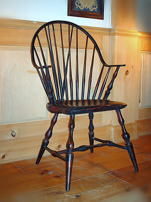 Continuous arm Windsor armchair