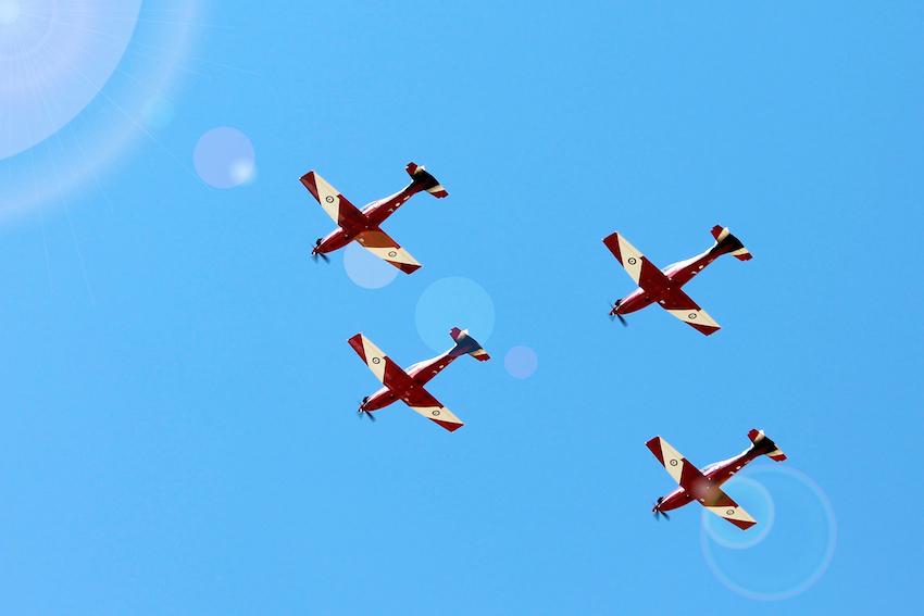 RAAF Base PC-9s -Sunshine Festival Freedom of Entry 2013