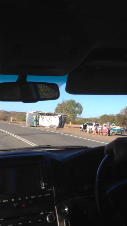 s bend rollover car accident greenough geraldton