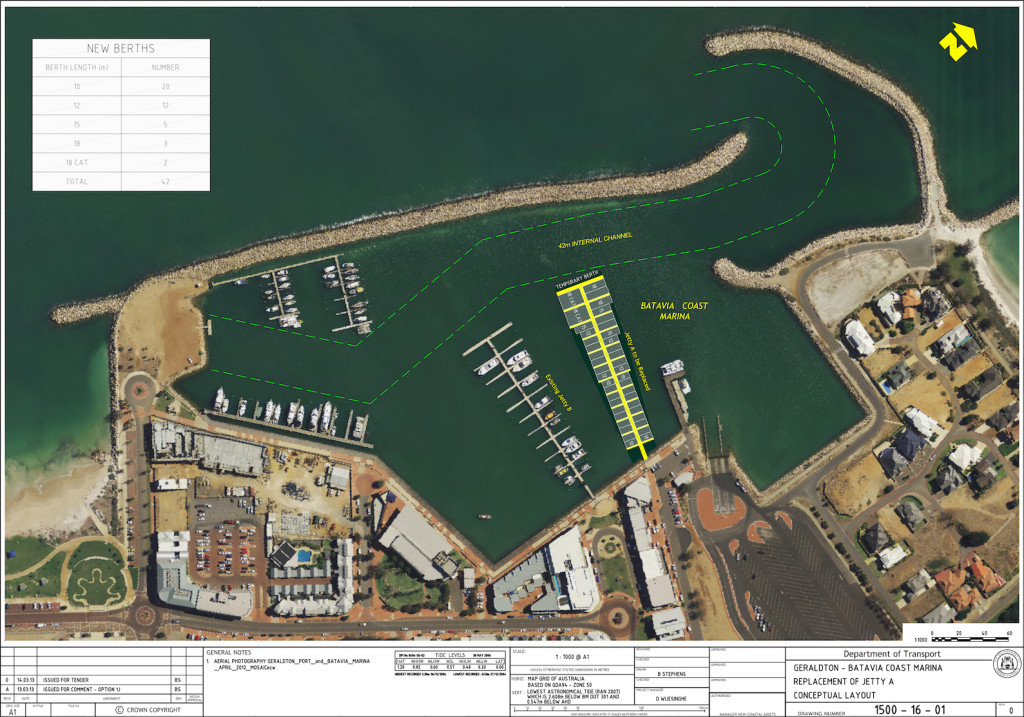 Geraldton Batavia Coast: Replacement of Jetty A - Conceptual layout
