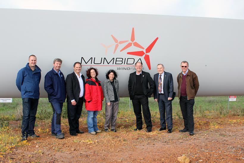 Pic Mumbida Wind Farm hub handover CC