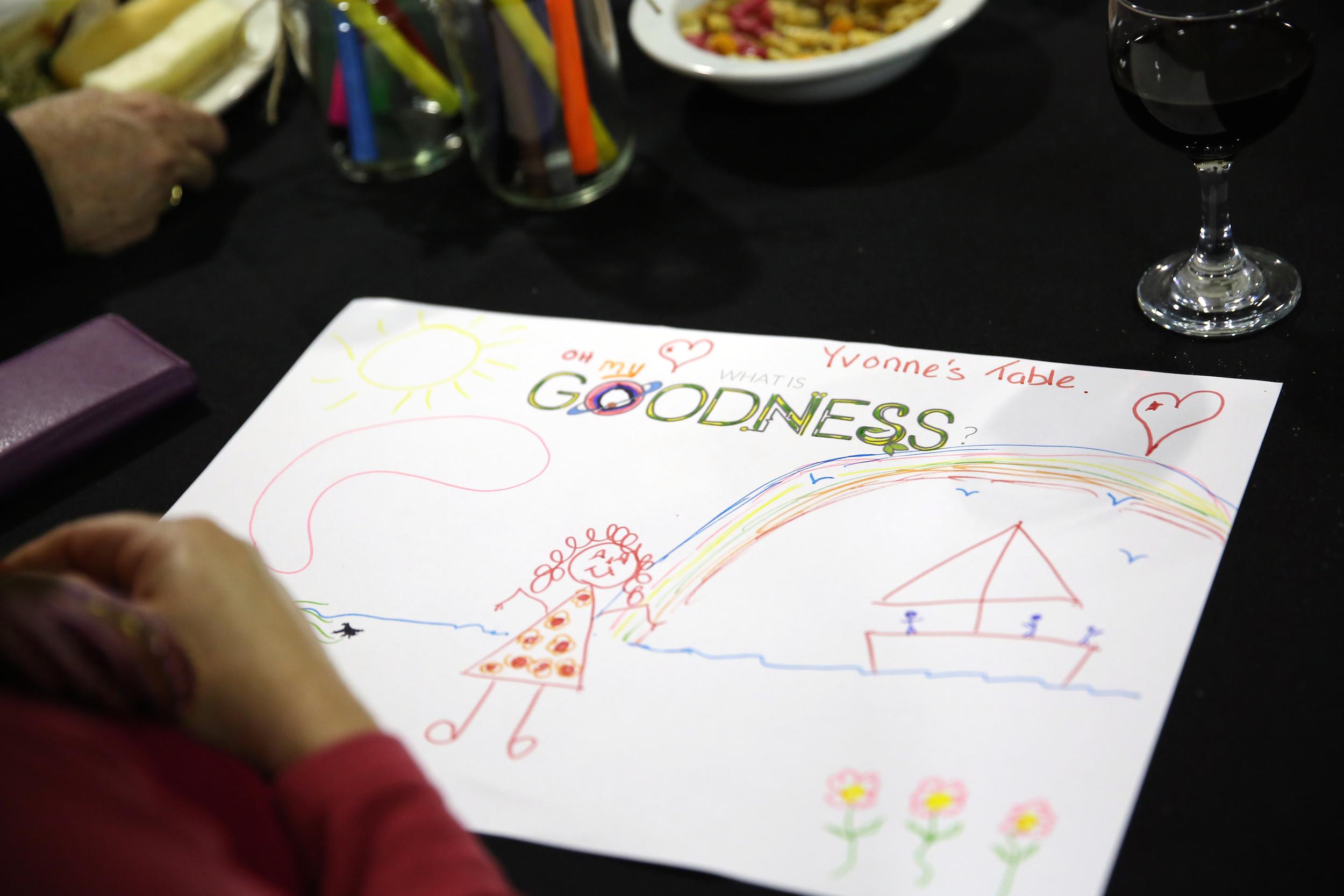Goodness drawing at Awards