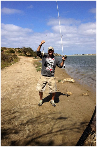 STEVE WAS STOKED TO GET HIS FIRST GREENOUGH RIVER BREAM-