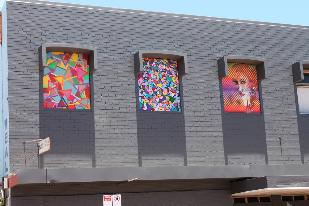 Brand new artwork has been installed on the Blue Heelers building in Marine Terrace.