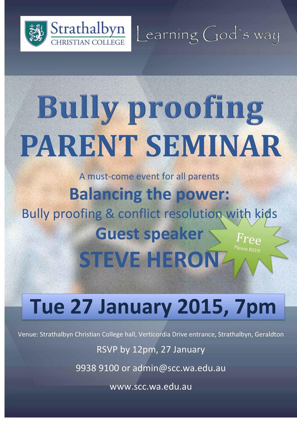 Microsoft Word - Bully proof seminar 270115.docx