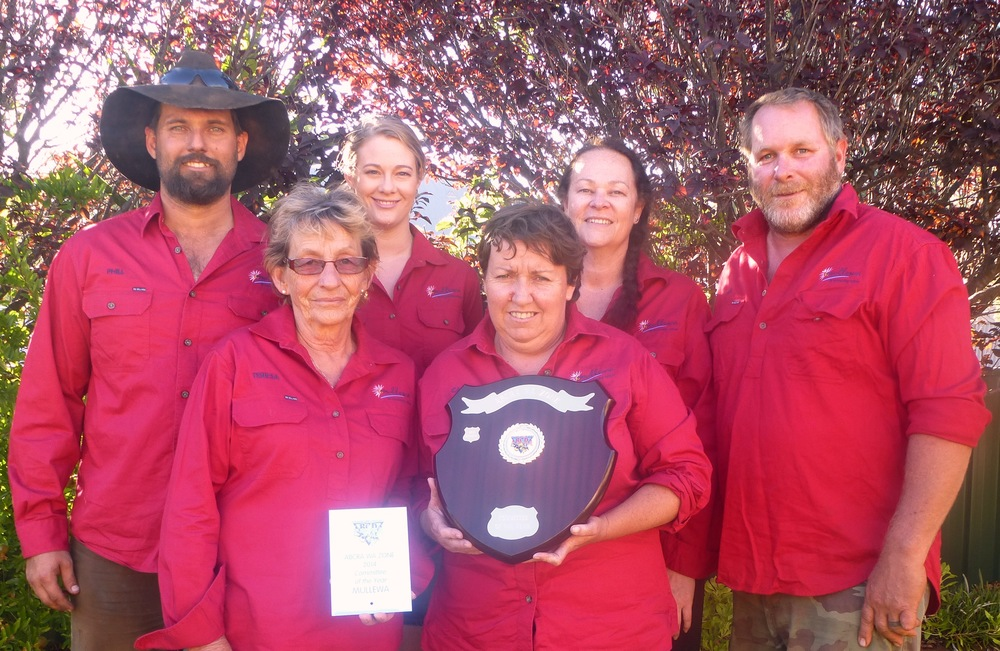 The Mullewa Muster & Rodeo Committee, Back Row: Phill Rumble (Vice President), Pip Rumble, Jane Parker (Secretary/Treasurer) and Darrin Fulker. Front Row: Teresa Curtis and Carol Young (President).