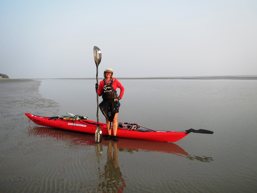 Local woman Sandy Robson is kayaking from Germany to Australia.