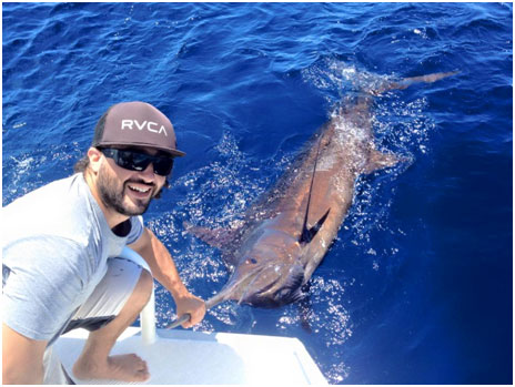 JOE AND DANIEL WITH TEAM EFFORT ON THIS BLUE MARLIN