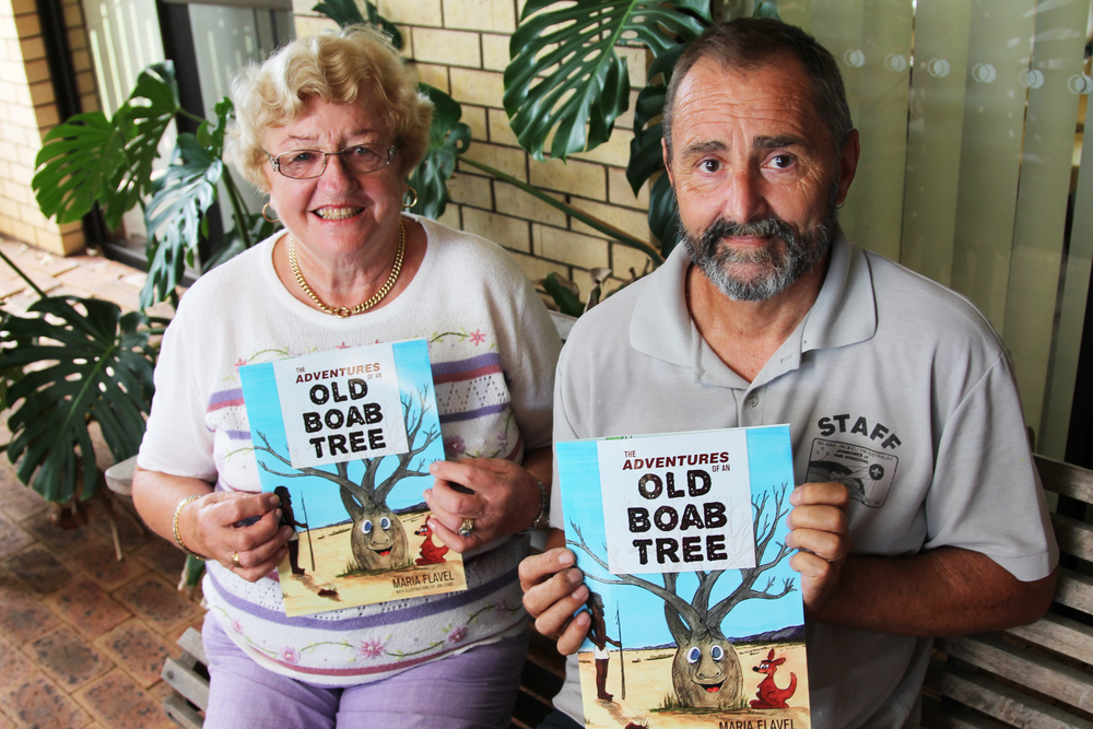 The Adventures of an Old Boab Tree author Maria Flavel and illustrator Jim Evans
