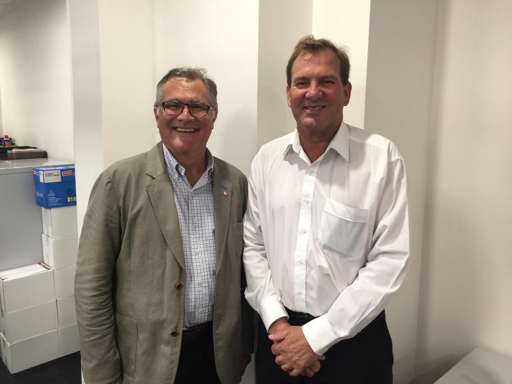Geoff Gallop and Darren West