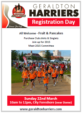 Geraldton Harriers Club Registration Day