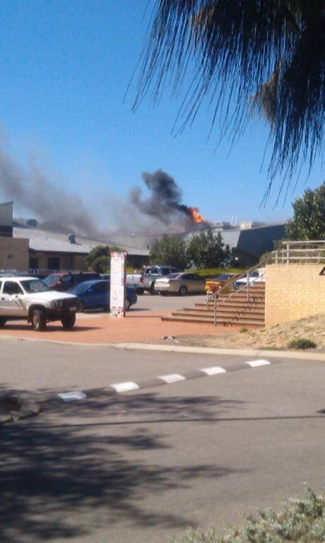 Ricci shared this image of the fire at Durack yesterday.