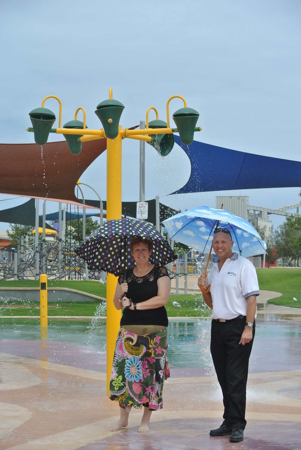 Vickie Hablitz, Chair of RDA Midwest Gascoyne with Alan Bradley, Executive Officer - 'Checking for Leaks in Geraldton'
