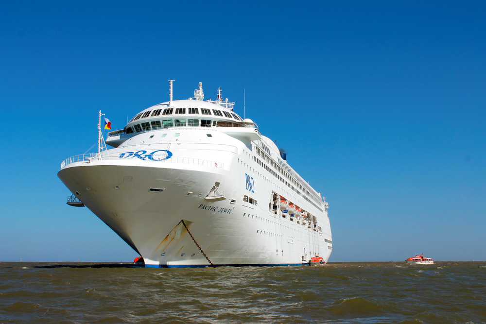 The Pacific Jewel on her first visit to Geraldton last month.