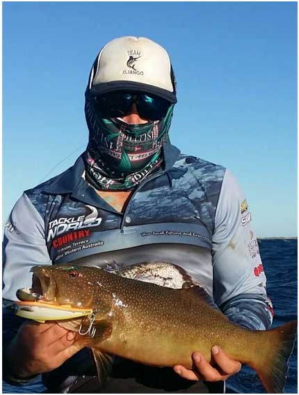 Tackle world Pro Angler with a nice Trout on the Samaki Pacemaker