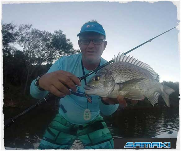 Craig wise a solid Bream caught on the Samaki Vibelicious Thumper tail