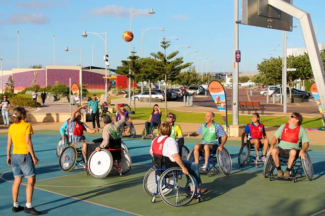 Community Grant recipients, Midwest Community Living Association, will use funds from Round 16 to help with events like the International Day with a Disability basketball games at the Foreshore.