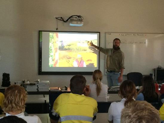 Luke Bayley gives presentation on Bush Heritage and Environmental Science.