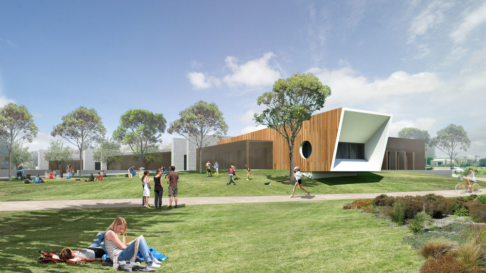 Artists impression on the Multi User Facility and Youth Precinct
