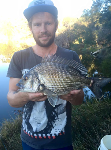 BRENDON WITH A LOVELY 30CM BREAM