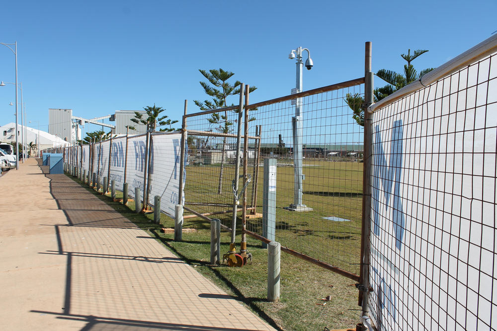 Construction Site: Fencing has been raised for the initial phases of the new Multi User Facility and Youth Precinct.