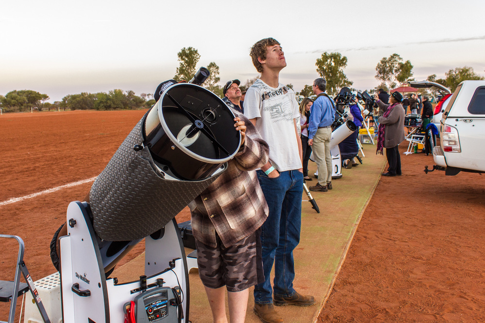 Keen star gazers in awe of the Murchison Sky