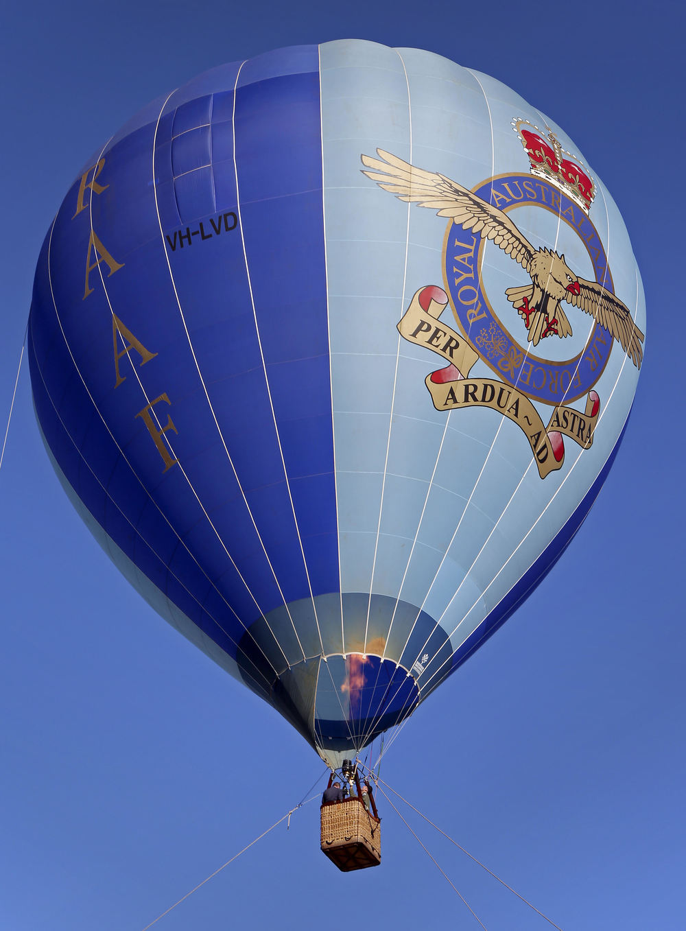 The Royal Australian Air Force Balloon is currently on tour and scheduled to 'land' in Greater Geraldton.