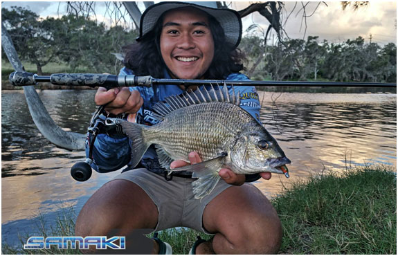 JAZALI WITH A NICE 33CM BREAM ALSO ON A ZMAN SLIM SWIMZ
