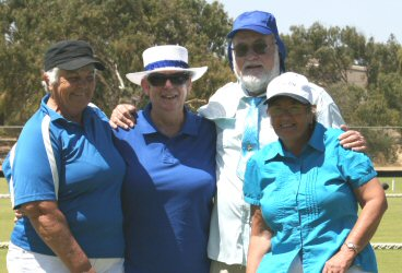 Blue Team: l - r  Margaret, Maureen E, Ken & Ruth