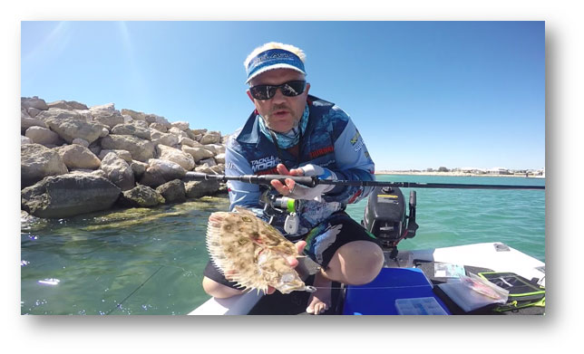 PAN SIZE FLOUNDER ABSOLOTLY SMASH MY FUZE 80MM FIN BAIT