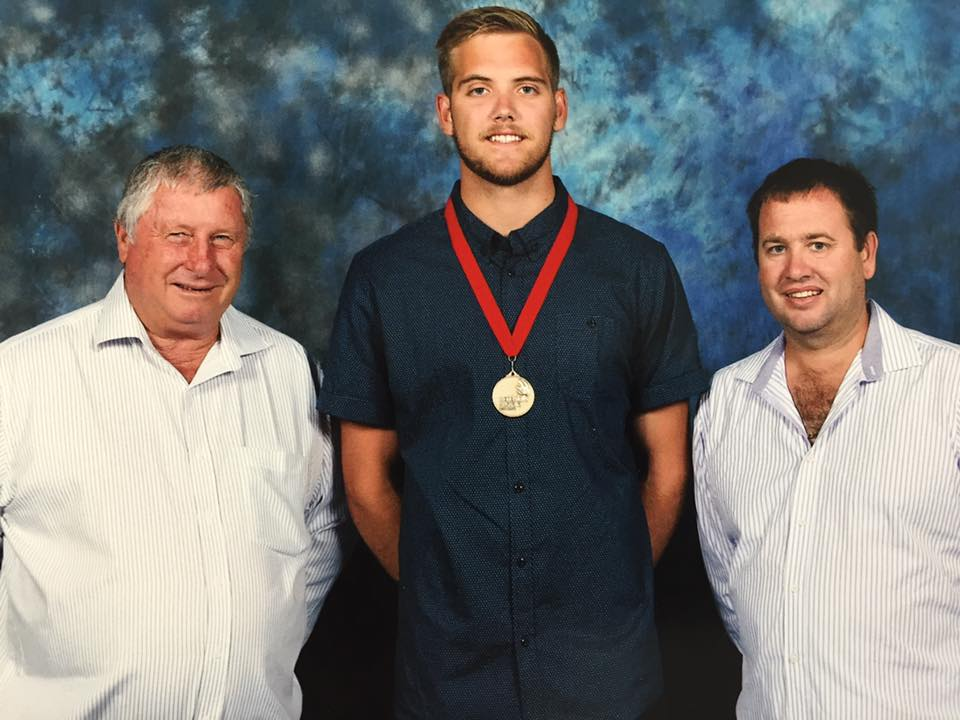 In the attached photo, John Pattrick (centre) was joined by Elite's Managing Director, Brad Luff (right) and Geraldton Operations Manager John French (left).