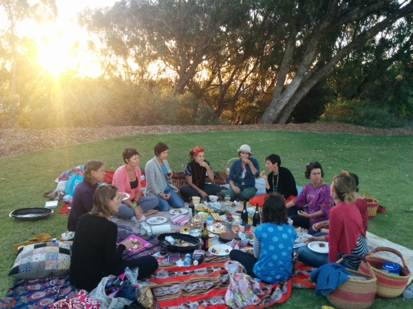 The women's circle that Wendy joins monthly. Photo – Sandra Gunthart