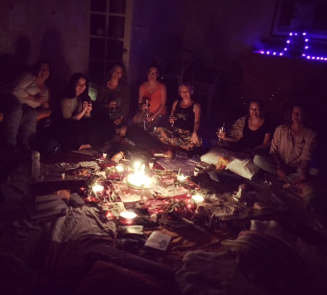 A women's circle at one of Wendy's retreats.