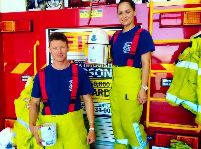Lieutenant Ben Collins & Apparatus Officer Tayla Renwick - Geraldton VFRS.