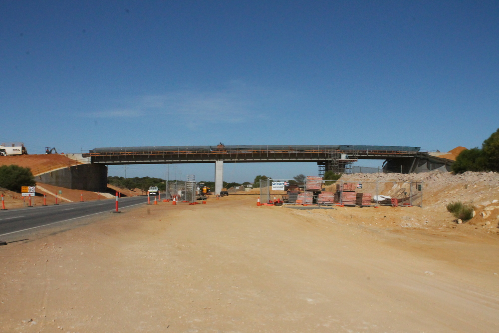 The last bridge planks have been lifted into place for the Abraham Street Bridge.