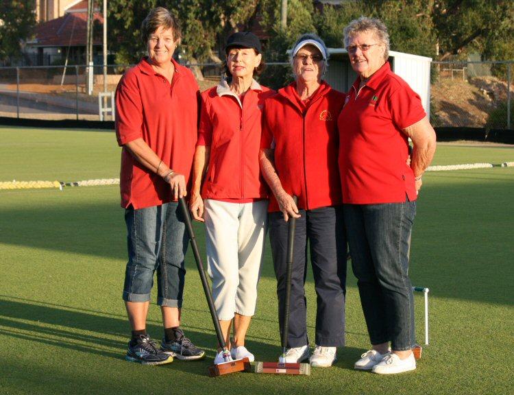 Red Devils, l-r (Captain) Wendy McDonald, Robyn McDonald, Rhonda Reynolds and Pamela Kerr