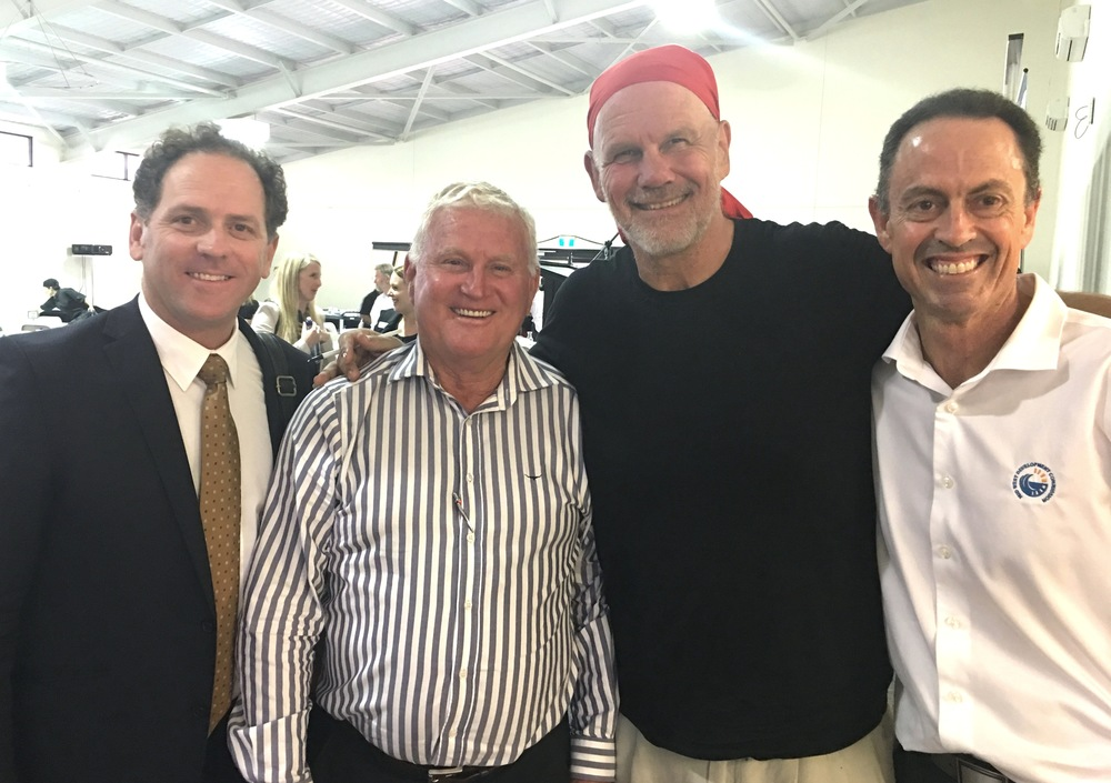 Department of Regional Development Director General Ralph Addis, Mid West Development Commission Chair Murray Criddle, Peter Fitzsimons and Commission Chief Executive Officer Gavin Treasure.