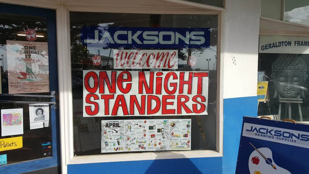 Pic: Our local little Art store is a tad excited about ONS - Kellie Mayer