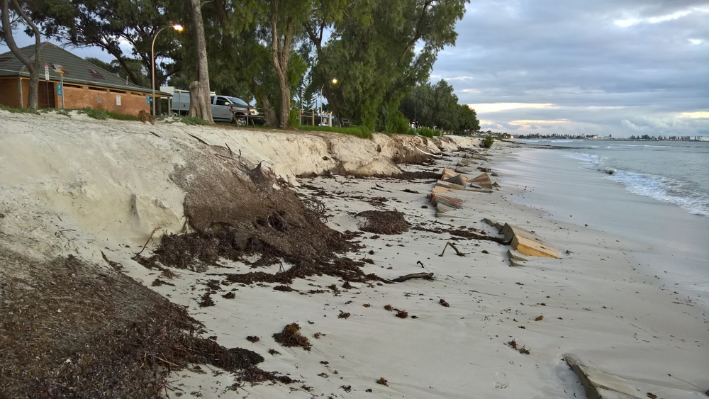 Erosion of St Georges Beach.